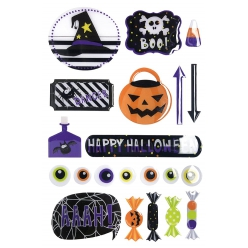 sticker epoxy halloween 13 a 9 cm x 21 pcs
