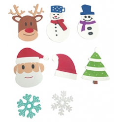 sticker mousse personnages de noel 53 a 10 cm x 50 pcs