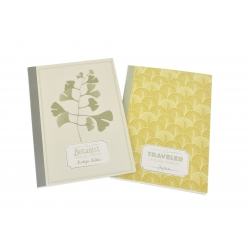 carnet 40 pages 14x10cm couverture souple botanic 2 pieces