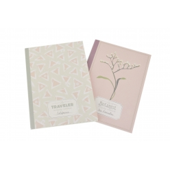carnet 40 pages 14x10cm couverture souple printemps 2 pieces