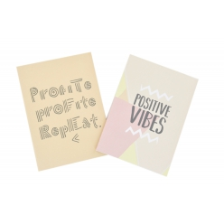 carnet 40 pages 14x10cm couverture souple vibes 2 pieces