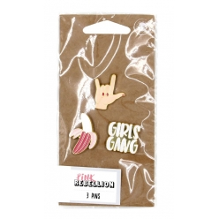 pins emaille decoratif girl gang 3 pieces