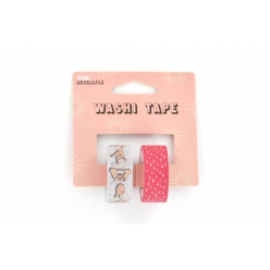 washi tape pink rebellion 15 cm 2 rouleaux