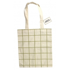 tote bag coton epais 275x315cm impression quadrillage