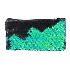 trousse double sequins bleu violet 205 x 14 cm