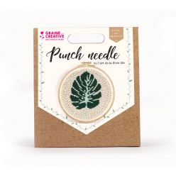 kit punch needle feuille o 20 cm