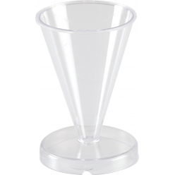 moule a bougie cristal cone h78 mm o55 mm
