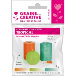 Colorants solides pour Bougie 3 couleurs Tropical