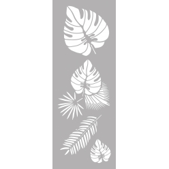 pochoir deco 15x40 cm tropical