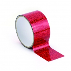 ruban adhesif large queen tape 48cm holographic rouge