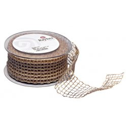 ruban jute resille nature 50 mm au metre