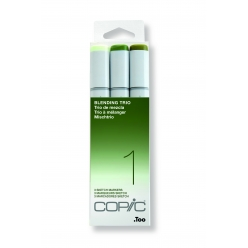 set copic sketch marqueurs manga 3 couleurs degrade vert trio 1