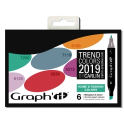 set 6 marqueurs a l alccol graph it home et fashion 2019