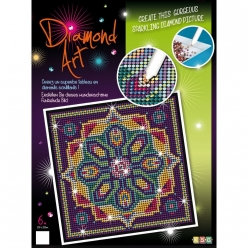 tableau art diamond strass et diamants mandala