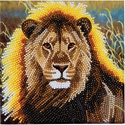 carte a diamanter strass crystal art lion 18 cm