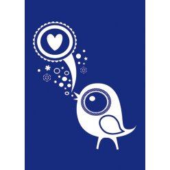 pochoir a4 love  bird my style destock