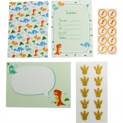carte d invitation enfant deco dinosaure 10 pieces