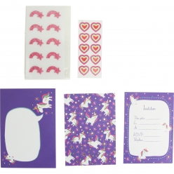 carte d invitation enfant deco licorne 10 pieces