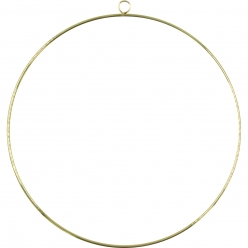 support deco a suspendre cercle en metal dore 25cm