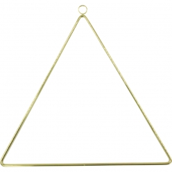 support deco a suspendre triangle en metal dore 25 cm