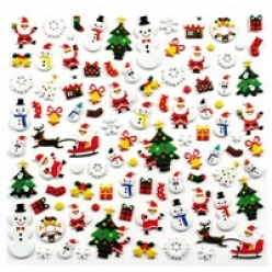 stickers 3d caoutchouc noel 93 pieces