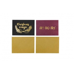 carte de noel message dore brillant 15 cm 4 pieces