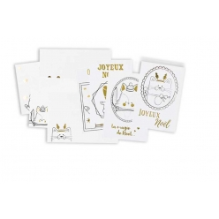 carte et enveloppe a colorier dore metallique 4 pieces