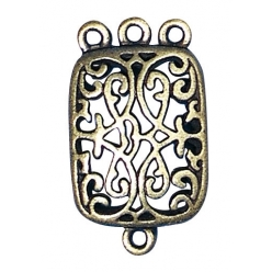 pendentif antique filigrane rectangle