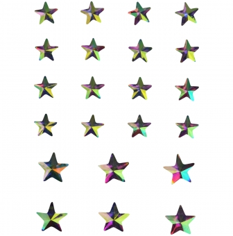 sticker strass en acrylique etoile 22 pieces