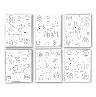 carte a sabler ou a pailleter insectes 6 pieces