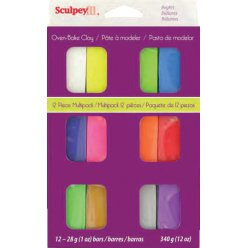 pate sculpey iii bright assortiment 12 couleurs