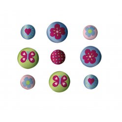 boutons brodes assortis lucy 9 pieces