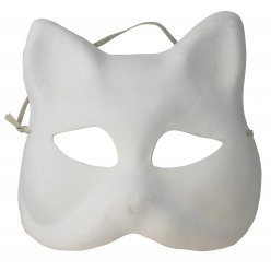 masque venise chat finition platre a decorer