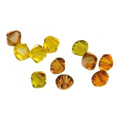 perles cristal swarovski 6 mm assortiment jaune 25 pc