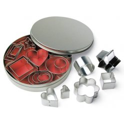set de 24emporte pieces en metal 2 4 cm 8 modeles