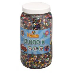 pot 13 000 perles standard o5 mm 22 couleurs