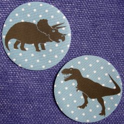 patchs thermocollants dinosaure n1 pois bleu 2 pieces