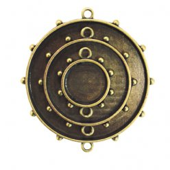 support en metal bronze rond 3 pieces mb1007