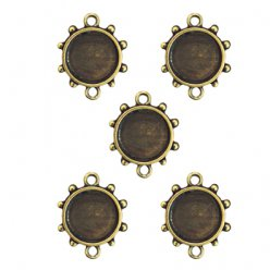 support en metal bronze rond 5 pieces