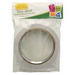 adhesif double face extra fort 12mm x 16 m