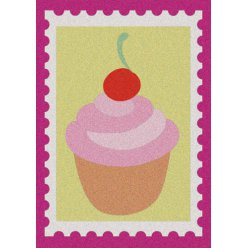 kit cartes a sable cupcake gingerbread man