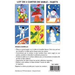 cartes a sable 13x18 cm personnages 6 pieces