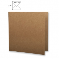 carte carree double kraft 135 mm 5 pieces