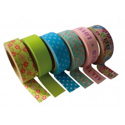 masking tape 15 mm 6 rubans printemps