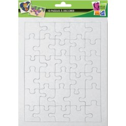 puzzles de 30 pieces a decorer 20x13 cm 10 pieces