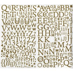 stickers alphabet paillete or 300 pces