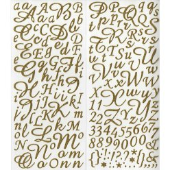 stickers alphabet paillete or 177 pces