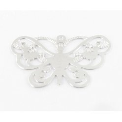 estampe filigranee papillon 25x16 mm argente