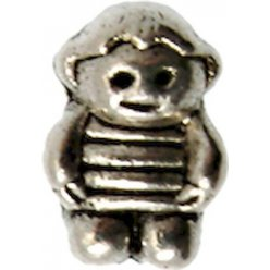 perle metal grand trou 15mm bonhomme