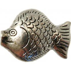 perle metal poisson 23x18 mm argente